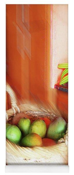 Abstract Fruit Art   100 Yoga Mat