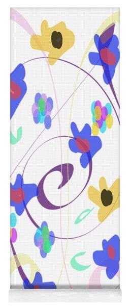 Abstract Garden Nr 7 Naif Style Yoga Mat