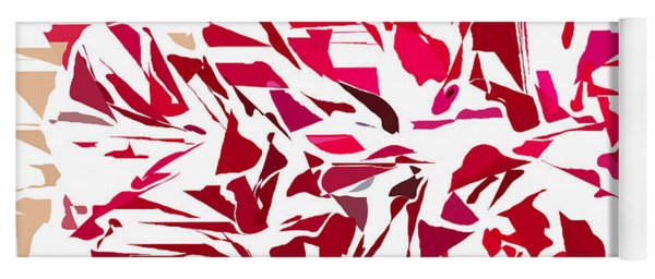 Abstract Geranium Yoga Mat