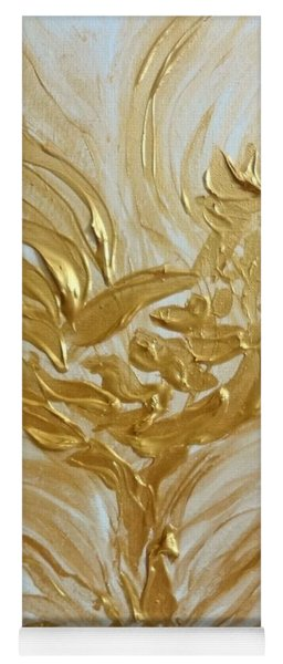 Abstract Golden Rooster Yoga Mat
