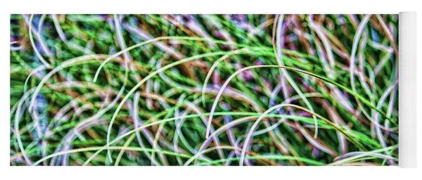 Abstract Grass Yoga Mat