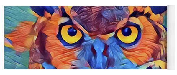 Abstract Great Horned Owl Yoga Mat