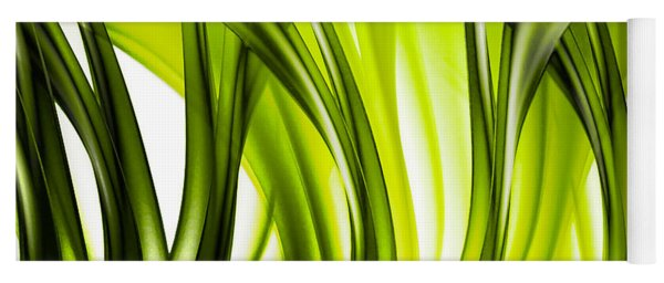 Abstract Green Grass Look Yoga Mat