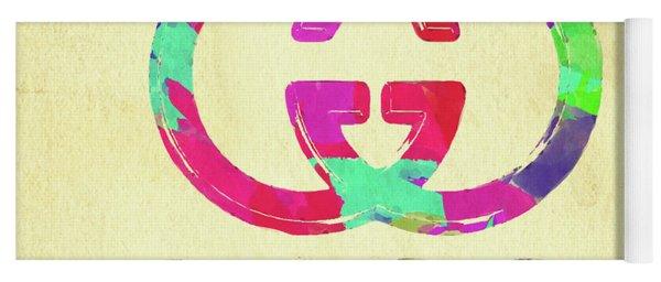 Abstract Gucci Logo Watercolor II Yoga Mat