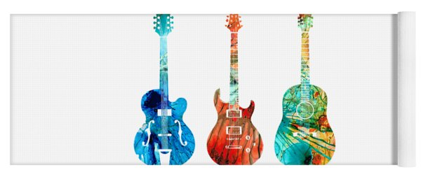 Abstract Guitars By Sharon Cummings Yoga Mat