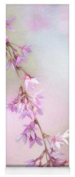 Abstract Higan Chery Blossom Branch Yoga Mat