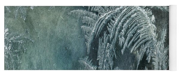Abstract Ice Crystals Yoga Mat