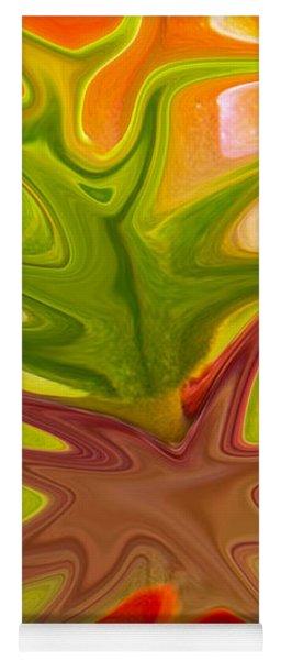 Abstract In Orange Yoga Mat