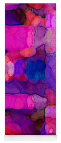 Abstract In Purples Yoga Mat