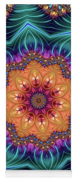 Abstract Kaleidoscope Art With Wonderful Colors Yoga Mat