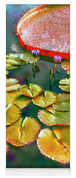 Abstract Lily Pads Yoga Mat