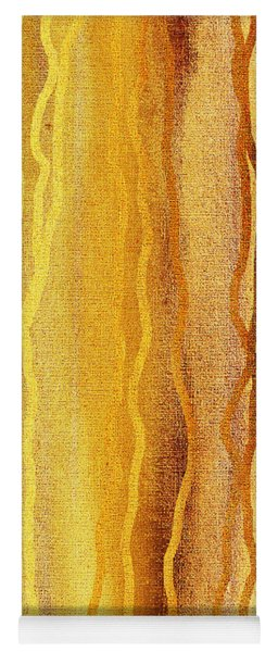 Abstract Lines In Beige Yoga Mat