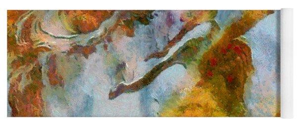 abstract mountains I Yoga Mat
