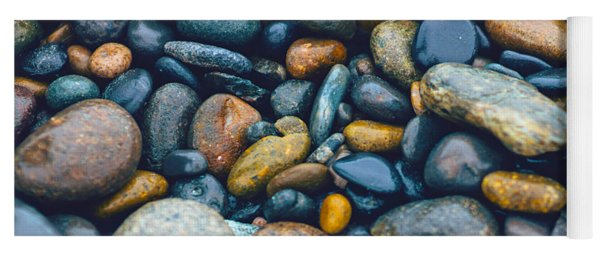 Abstract Nature Tropical Beach Pebbles 923 Blue Yoga Mat