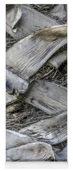 Abstract Nature Tropical Palm Tree Bark 1873a Yoga Mat