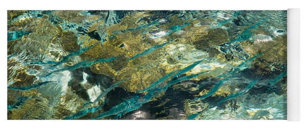 Abstract Of The Underwater World. Production By Nature Yoga Mat