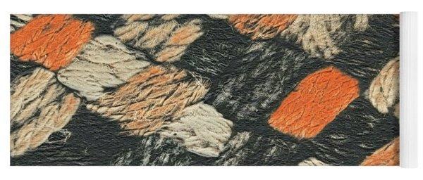 Abstract Pattern Black And Orange Yoga Mat
