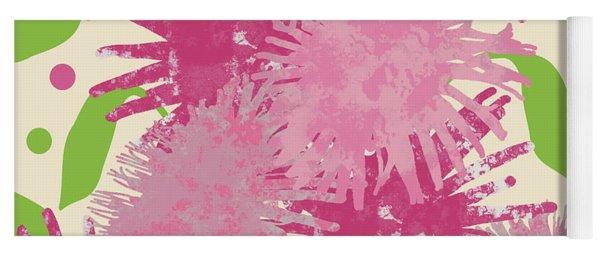 Abstract Pink Puffs Yoga Mat