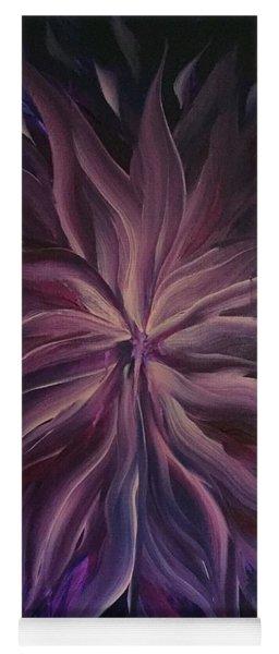 Abstract Purple Flower Yoga Mat