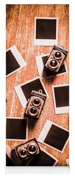 Abstract Retro Camera Background Yoga Mat