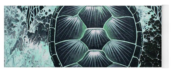 Yoga Mat featuring the painting Abstract Sea Turtle by William Love