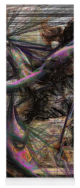 Abstract Sketch 1334 Yoga Mat