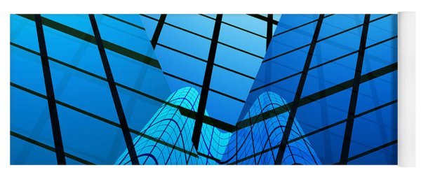 Abstract Skyscrapers Yoga Mat