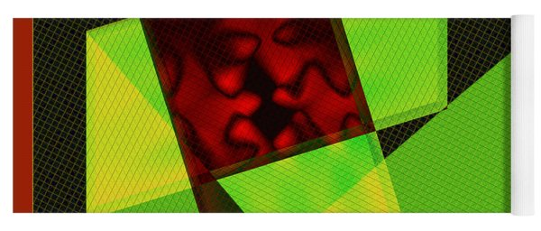 Abstract Squares And Angles Yoga Mat