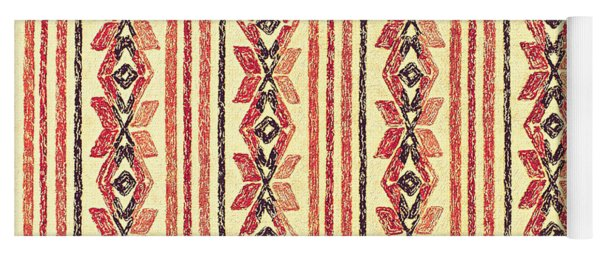 Abstract Stripes Pattern Yoga Mat