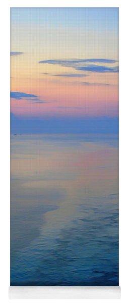 Abstract Sunrise Sailing Into Boston Yoga Mat