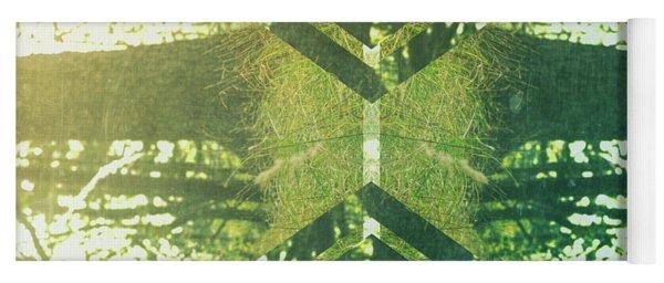 Abstract Trees Yoga Mat
