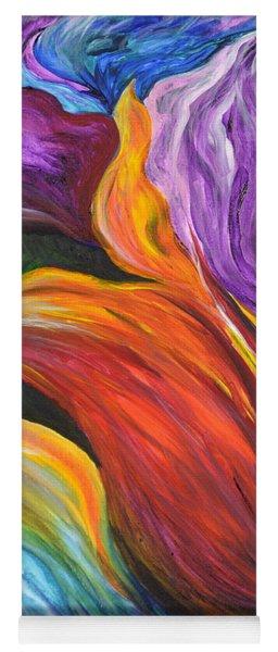 Abstract Vibrant Flowers Yoga Mat