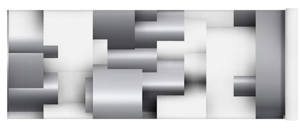 Abstract White And Grey Yoga Mat