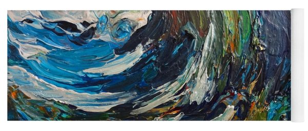 Abstract Wild Wave  Yoga Mat