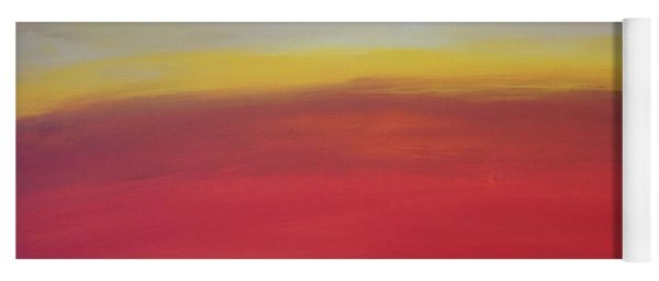Yoga Mat featuring the painting Abstract_sunset by Jimmy Clark