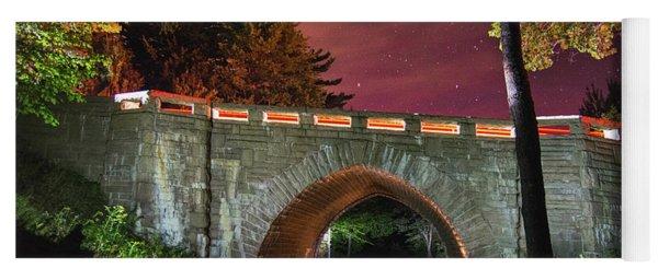 Acadia Carriage Bridge Under The Stars Yoga Mat