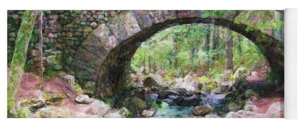 Acadia National Park - Cobblestone Bridge Abstract Yoga Mat