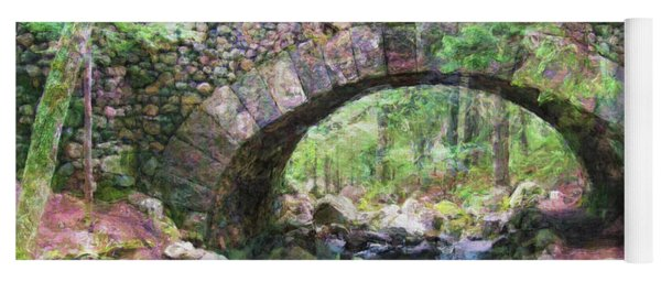 Acadia National Park - Cobblestone Bridge Abstract Yoga Mat