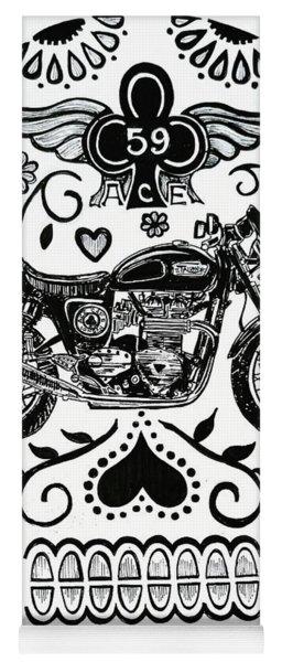 Ace Cafe Sugar Skull Yoga Mat