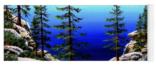 Across Lake Tahoe Yoga Mat