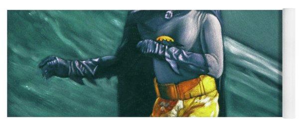 Adam West Batman Surfing Yoga Mat