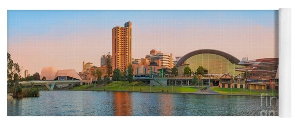 Adelaide Riverbank Panorama Yoga Mat