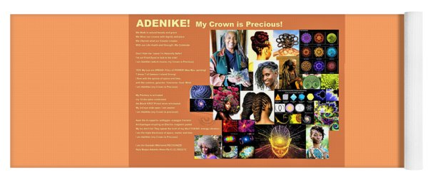 Adenike My Crown Is Precious Yoga Mat