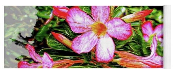 Adenium Asian Flower Yoga Mat
