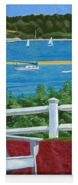 Yoga Mat featuring the drawing Adirondack Chair On Cape Cod by Dominic White