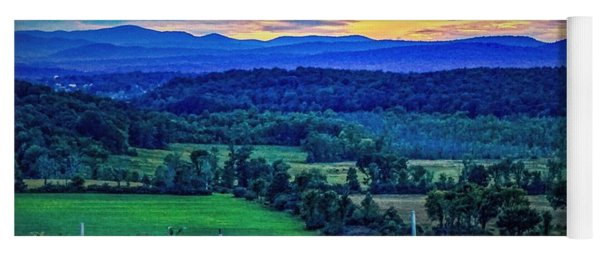 Yoga Mat featuring the photograph Adirondack Country by Kendall McKernon