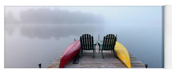 Adirondack Fog Panorama Yoga Mat