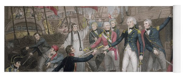 Admiral Nelson's Boarding The Two Spanish Ships, 14th February 1797 Yoga Mat