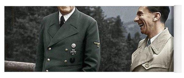 Adolf Hitler Joseph Goebbels Berghof Retreat  Number 2 Agfacolor Heinrich Hoffman Photo Circa 1942 Yoga Mat
