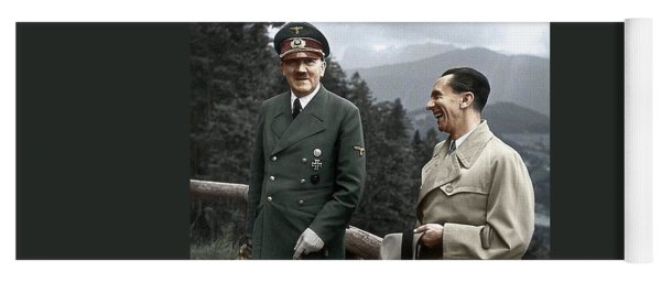 Adolf Hitler Joseph Goebbels Berghof Retreat  Number 2 Agfacolor Heinrich Hoffman Photo Circa 1942 Yoga Mat